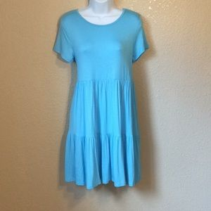 M clothing turquoise loose fit comfy dress